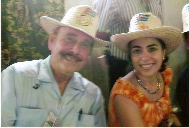 with Adriana Pérez, wife of Gerardo Hernández, Cuba 5