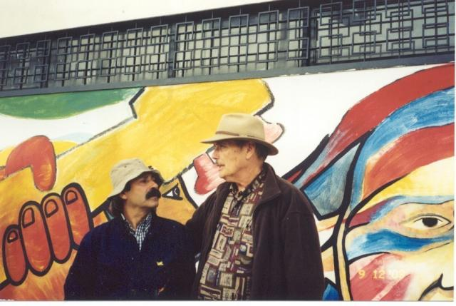 "with muralist ""El Mono"" of BRP in Chile 2003"