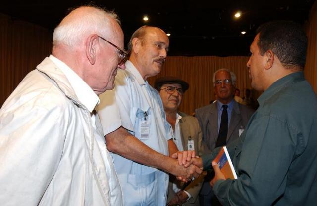 Cockcroft with Hugo Chávez, François Houtard, & Edmundo Aray