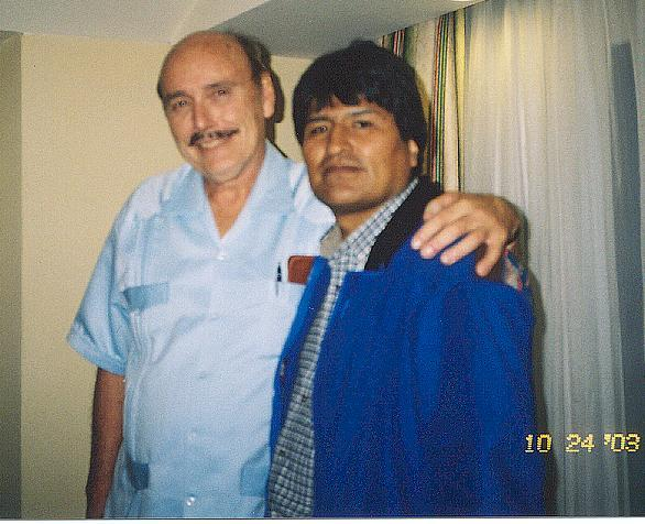 Cockcroft with Evo Morales 2003