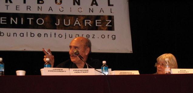 With Eva Forest, Tribunal Benito Juárez, 2005